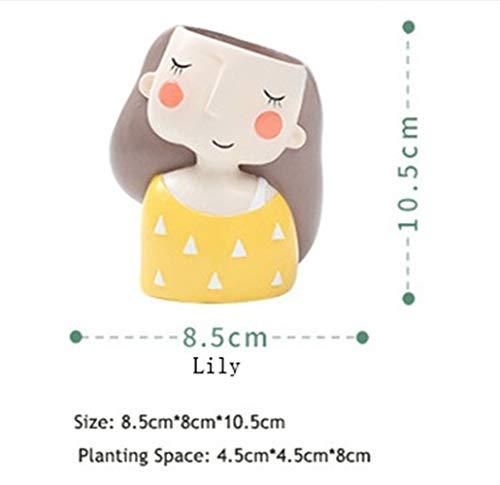 19 Neue kreative kleine blumentöpfe pflanzer saftigen Kaktus Bonsai blumentopf (Color : Yellow Cactus pots) ()
