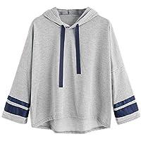 Cloom Damen Hoodie, Plus Größe Langarmshirt Gestreifter Sweatshirt Jumper Bluse Kapuzenpullover Sweatshirt Sportshirt... preisvergleich bei billige-tabletten.eu