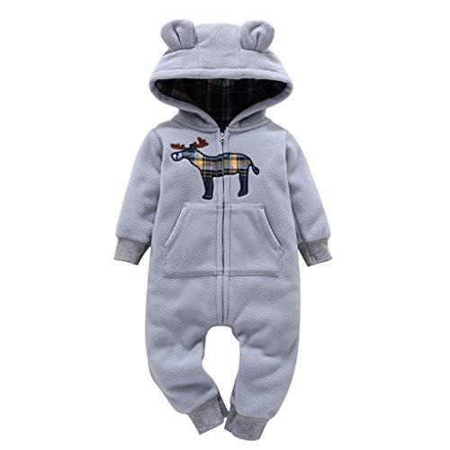 Babyschuhe ❀❀❀JYJM ❀❀❀Säuglings-Baby-Jungen-Mädchen-Dicker-Druck-Kapuzenpulli-Overall-Ausstattungs-Kind-Kleidung (Größe: 24Monat, (Original Kostüm Ideen Niedlich)