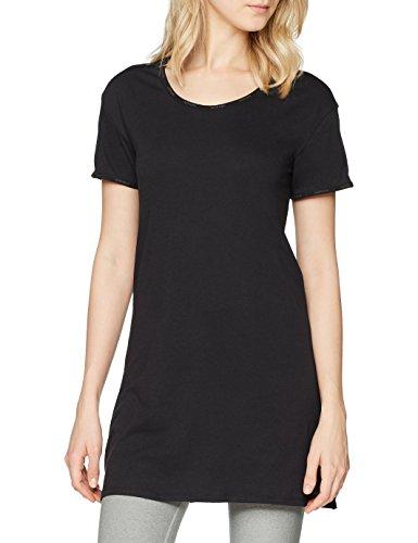 Calvin Klein Damen Schlafanzugoberteil S/S Nightshirt, Schwarz (Black 001), 40 (Herstellergröße: L) (Ärmelloses Top Klein Calvin Schwarzes,)