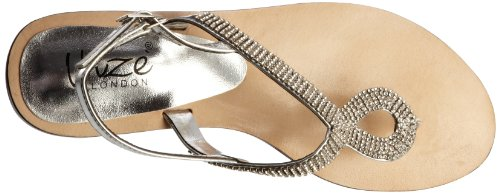 Unze Evening Slippers, Damen Slipper Silber (L18255W)
