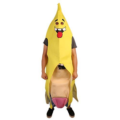 MagiDeal Bananenganzkörper kostüm für Erwachsene Herren Bananenganzkörper Frucht (Männer Anzüge Lustige)