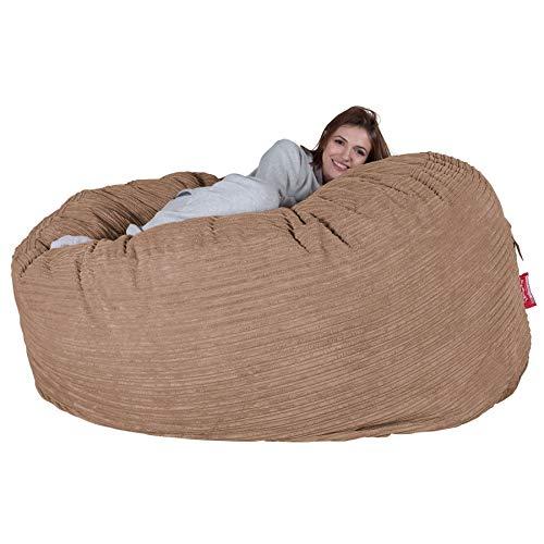Lounge Pug, Riesen Sitzsack Sofa C1000-L, CloudSac Latexflocken-Mischung, Schlafsofa, Cord Sand