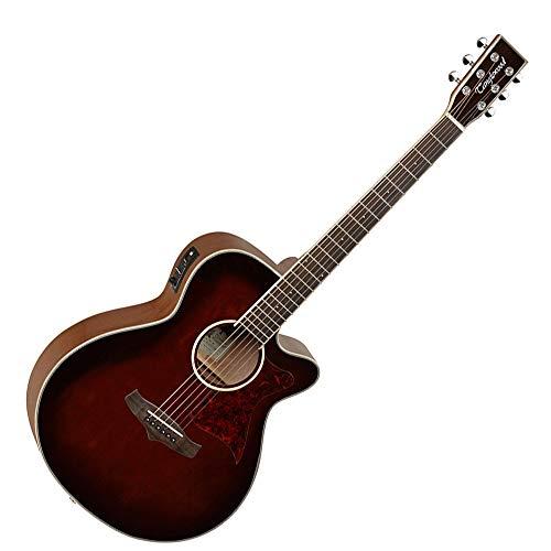 Tanglewood TW4WB Super Folk–Guitarra electroacústica, superior de cedro macizo, con ecualizador