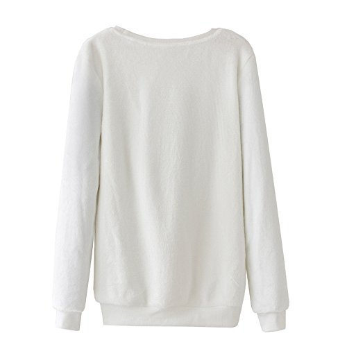 DaBag Felpe da Donna Ragazza Maglia Elefante Maglione Caldo Sweater Manica Lunga Top T-shirt Autunno e Inverno Cuore Dolce Spessore Pullover na02