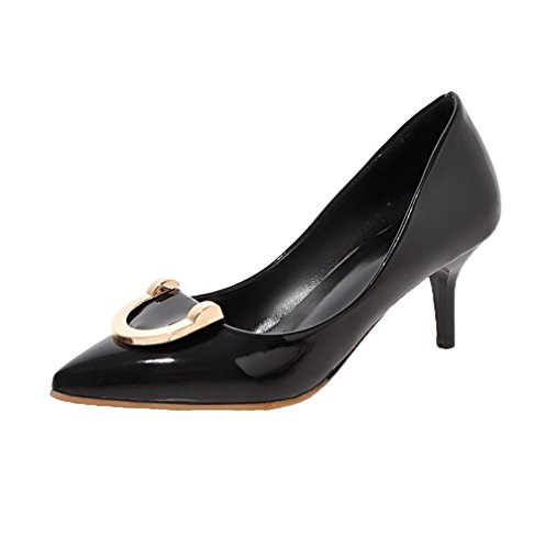 voguezone009-womens-patent-leather-pointed-closed-toe-kitten-heels-pull-on-solid-pumps-shoes-black-3