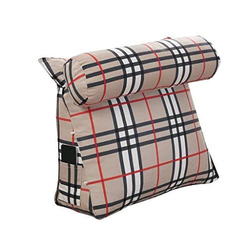 Keilkissen Dreieck, Baumwolle + Perle Baumwolle Rückenstütze Winkelkissen Kissen Einstellbare Lesekissen Schlafsofa Nackenstütze (Farbe: A, Größe: 60 * 50 * 20 cm)