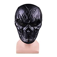 YuanYu Halloween mask, holiday party full face horror mask cos halloween dress mask, black 26x15.5cm mask ( Color : A )