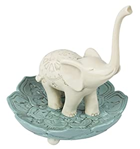 Being Mindful Elephant Trunk Up Good Luck Ring Jewelry Holder