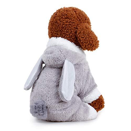 Morbuy Hund Katzen Welpe Kostüm Kapuzenpullis, Haustiere Pullover Sweater Ohren Halloween Haustier Kostüme Nettes Cosplay für Kleine Katzen Welpen (XS, ()