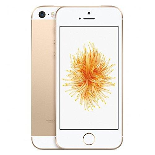 "Apple iPhone SE - Smartphone libre iOS (4G, pantalla 4"", A9, 16 GB, 2 GB RAM, cámara de 12 Mp), color dorado"