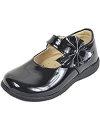 lisianthus002Kid Zapatos de Mary Jane para niñas con Lazo de uniforme escolar plano