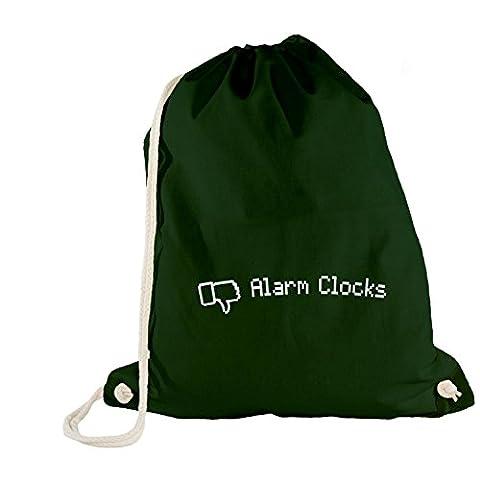 Sac de gym–Dislike Alarm Clock–Thumb Down Réveil - vert - One Size