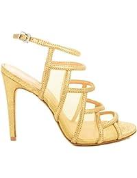 VICENZA 234041-2 SANDALI TACCO CAMURCA CRAQUELE loggi-calzature beige Estate