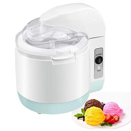 PowerLead Eismaschine, Ice Cream Maker Frozen Joghurt Maschine Sorbet Maschine Frozen Joghurt Maker Speiseeismaschine, Rezeptvorschläge Nicht enthalten