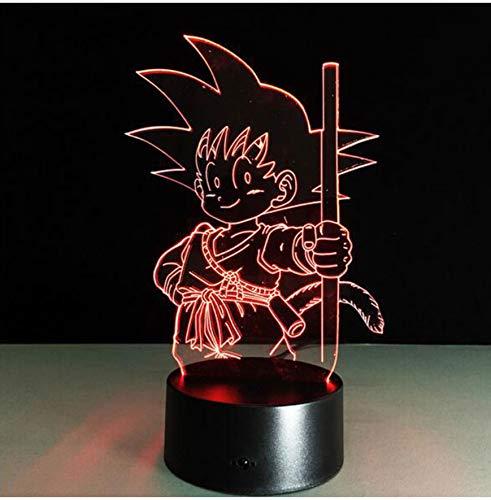 3D Acryl Nachtlicht 3D Super Cool Dragon Ball Led Acryl Tischlampe Spielzeug Action-Figuren 7 Farben Ändern Dragonball Evolution Usb Led Nachtlicht