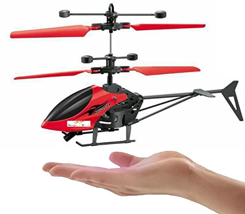 SUPER TOYS Induction Type Hand Sensor Flying Helicopter for Kids