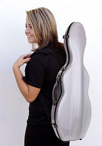 Custodia per violino 4/4 Fiberglass colore argento TONARELI