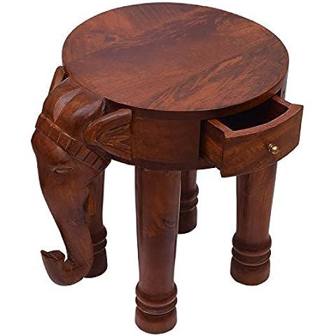 Store Indya, Vintage Style Elephant legno Table Stand Portable Outdoor Indoor del salone della casa
