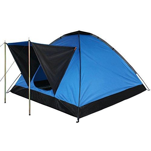 Kuppelzelt-Camping-Festival-Zelt-OCEAN-fr-2-3-Personen-Wassersule-3000-von-BB-Sport-Farbeblau
