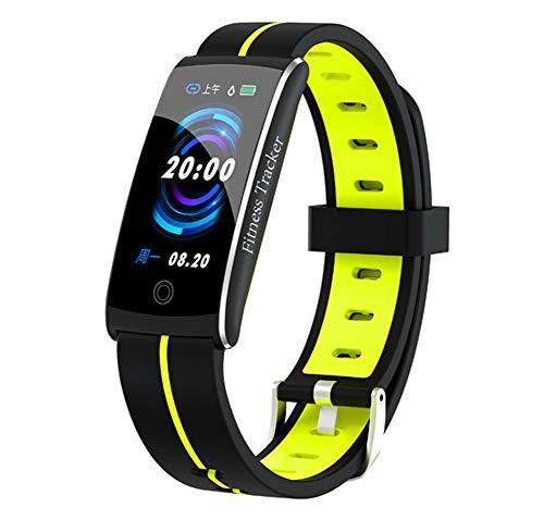 HHRONG Fitness Tracker, Farb Bildschirm Smart-Armband, Pedometer-Uhr und Sleep-Monitor-Kalorie Männer und Frauen-Green Farb-multifunktions-navigations-display