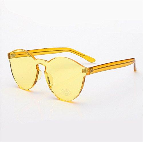 ZYPMM 2017 neue koreanische im Freiendamen Sonnenbrille männliche Plastiksonnenbrille Europa und die Vereinigten Staaten Tendenz Retro Gläser polarisiertes Licht ( Color : Gelb )