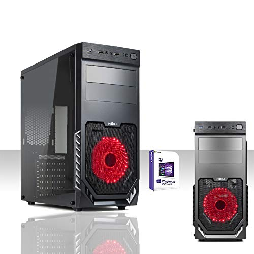 PC DESKTOP LED RED INTEL QUAD CORE GAMING WINDOWS 10 PRO 64 BIT/WIFI/HD 1TB SATA III/RAM 16GB 1600MHZ/DVD-RW/VENTOLA LED 12M RED/PC FISSO COMPLETO PRONTO ALL'USO,PER UFFICIO,CASA,GIOCHI