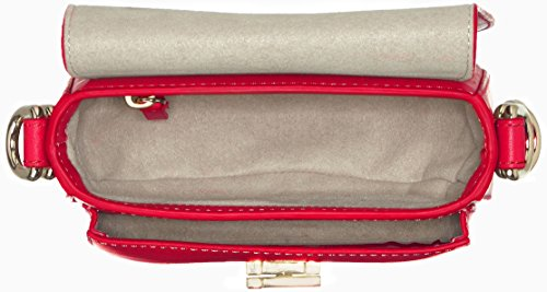 Tommy Hilfiger Th Twist Leather Mini Crossover, Sac bandoulière Rouge (Fiery Red)