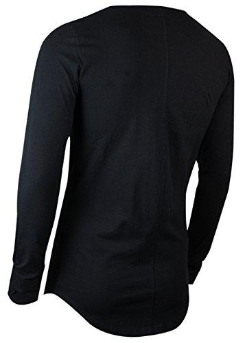 trueprodigy Casual Herren Marken Shirt Long Sleeve einfarbig Basic, Oberteil cool und stylisch mit Rundhals (Langarm & Slim Fit), Langarmshirt für Männer in Farbe: Schwarz 2563110-2999 Black