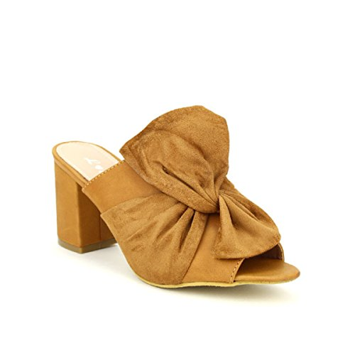 Cendriyon Sandale Simili Cuir Valine Chaussures Femme Caramel