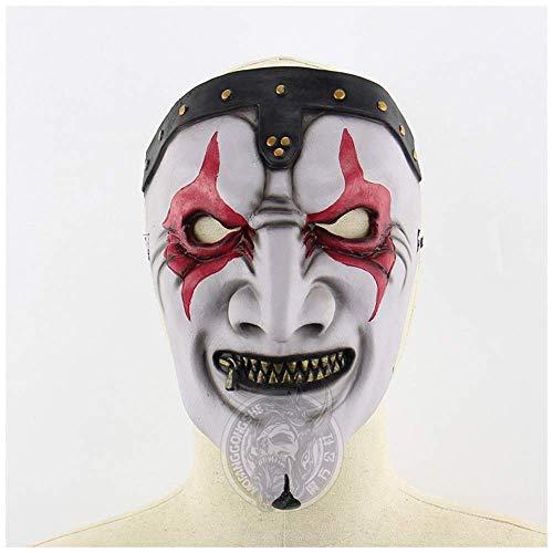 Wsjdmm Scherzi di Scena Regalo di Natale novità Slipknot Band James Mask Cerniera Maschera for la Bocca Halloween Horror Punk Party Dress Up Movie Props