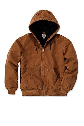 Carhartt J130 Quilted Flannel Lined Sandstone Active Jacket (5XL, Carhartt Brown) (Mantel Carhartt Active)
