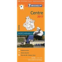 Carte Centre Michelin 2017
