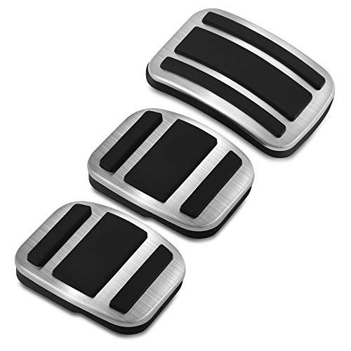 ZPARTNERS Pedale in Acciaio Inossidabile MT per Peugeot 308, 308S, 308, 408, 4008, 5008, Citroen C5 AIRCROSS (3PCS / MT)