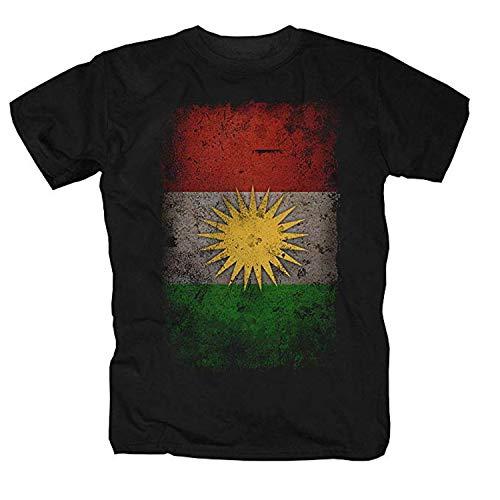 Kurdistán Camiseta negro M