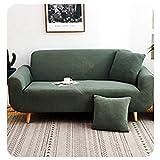 GELing Stretch Sofabezug Sofaüberwurf Weich Möbelschutz Sofaüberzug Couchbezug Sofahusse Grün 2 Sitzer(145-185CM)