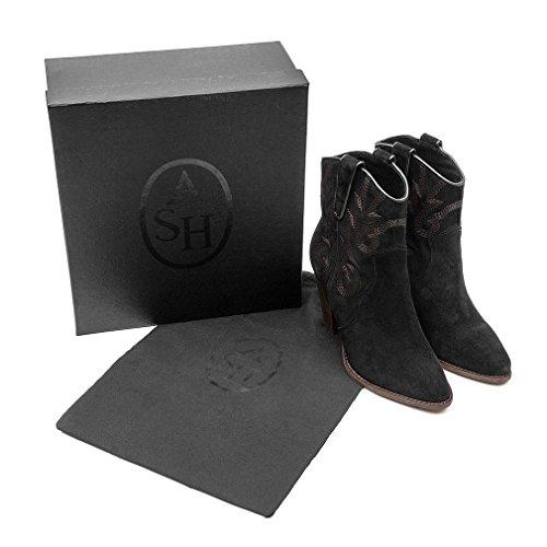 Ash Chaussures Joe Boots a Talon Noir Femme Noir