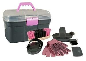 pfiff 100576 putzkiste mit inhalt putzbox 6 teiliges putzzeug pferdepflege haustier. Black Bedroom Furniture Sets. Home Design Ideas