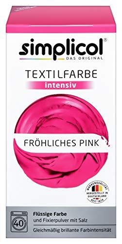 Simplicol Textilfarbe intensiv (18 Farben), Fröhliches Pink 1805: Einfaches Färben in der...