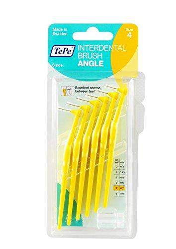 TePe Interdentalbürsten Angle gelb, 0.7 mm, 6 Stück