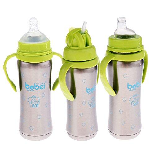 B Blesiya Bouteille D'eau Idéal Cadeau pour Bébés Sports de Cyclisme Escalade - Confortable pour Tenir - Vert