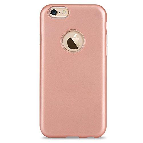 Ultra dünner leichter doppelter Schicht hybrider schützender rückseitiger Abdeckungs-Stoßkasten für iPhone 6 u. 6s ( Color : Silver ) Rose-gold