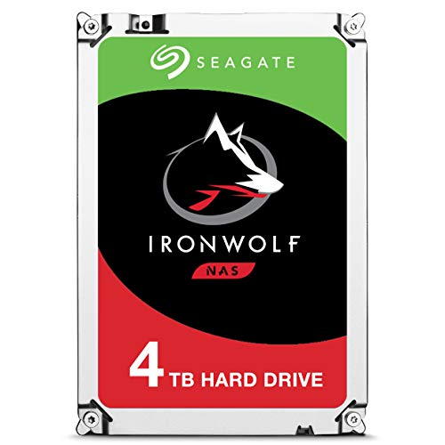 Seagate ST4000VN008 IronWolf 4 TB interne NAS Festplatte (8,89 cm (3,5 Zoll) 64 MB Cache, 5900 RPM, Sata 6 Gb/s)