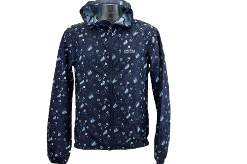 Jack And Jones Fluss Winstopper Jackett Neu Herr. Blau / Weiß