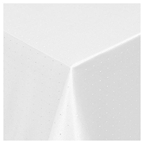 t Saum im Punktedesign - Eckig Oval und Rund in Premiumqualität- Größe und Farbe wählbar ECKIG 130x190 cm in Weiß ()
