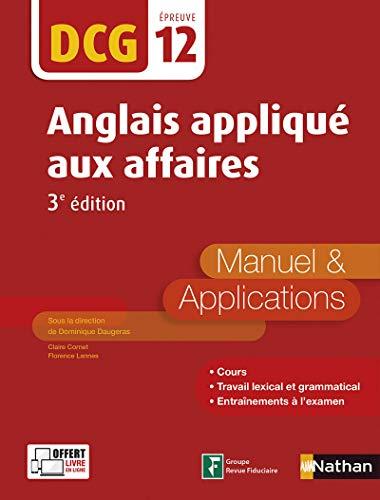 DCG 12 - Anglais appliqué aux affaires - 3e édition par Dominique Daugeras
