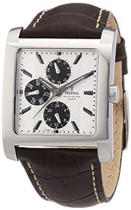 Reloj Festina F16235/G de cuarzo para hombre con correa de piel, color marrón de Leder