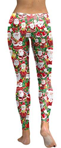 Belsen - Legging - Femme noir noir X-Large Expression Santa Claus