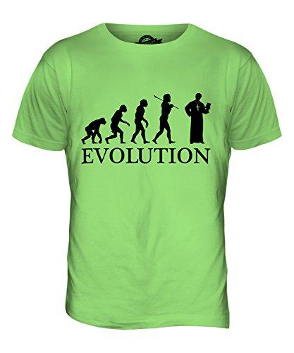 CandyMix Vikar Pfarrer Evolution Des Menschen Herren T Shirt Limettengrün