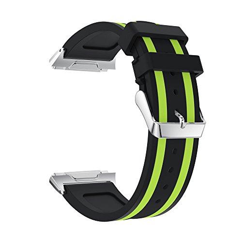 Reloj Banda SUNNSEAN Correa Deportiva de Reemplazo de Silicona Suave Líneas Verticales Accesorios para Relojes Inteligentes Reloj Fitbit Ionic Pulsera